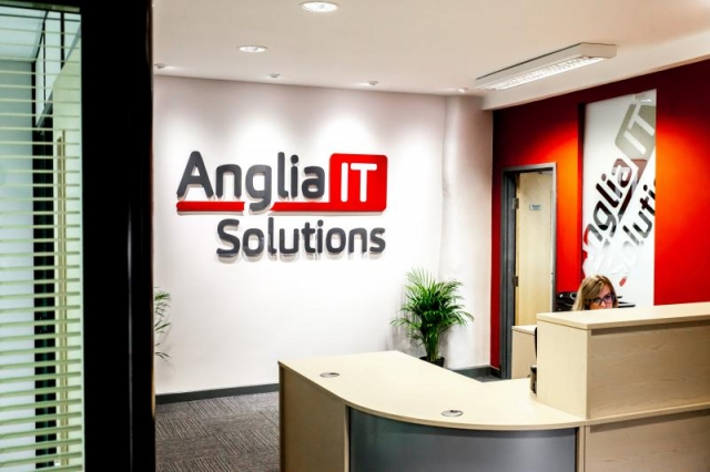 Reception desk for Anglia IT Solutions