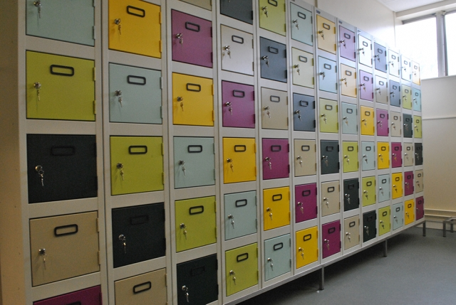 Lockers for a local food factory